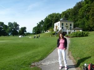 Vor der Runde Golfclub Schloss Maxlrain