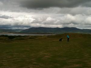 Linkscourse Dooks. Golfen wie im irischen Bilderbuch mit Bucht und saftigen Hügeln.