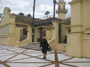 Vor dem Clubhaus gegenüber dem Islantilla Golf Resort